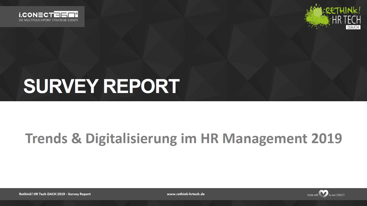Umfrage HR Digitalisierung